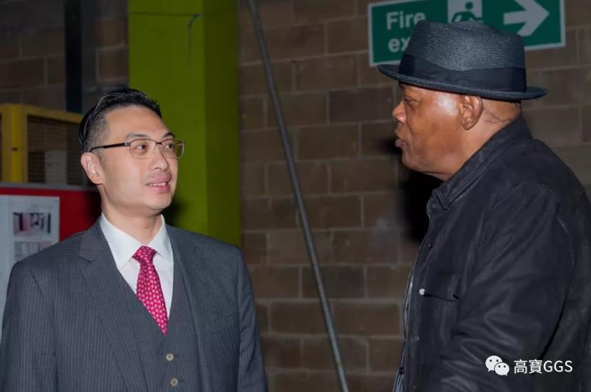韓世灝博士獲邀與好萊塢巨星塞繆爾·傑克遜先生(Samuel L. Jackson)會面。